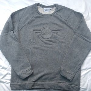 Other - MINI Embossed Grey Crewneck Sweater
